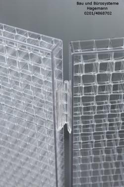 Transparente Trennwand, Bodenaufstellung Trennwand