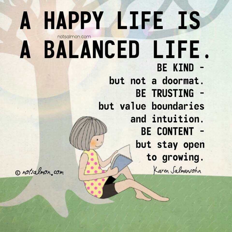 Happy Life Inspirational Quotes Happy Life Is A Balanced Life  Quotes Of The Day  Pinterest