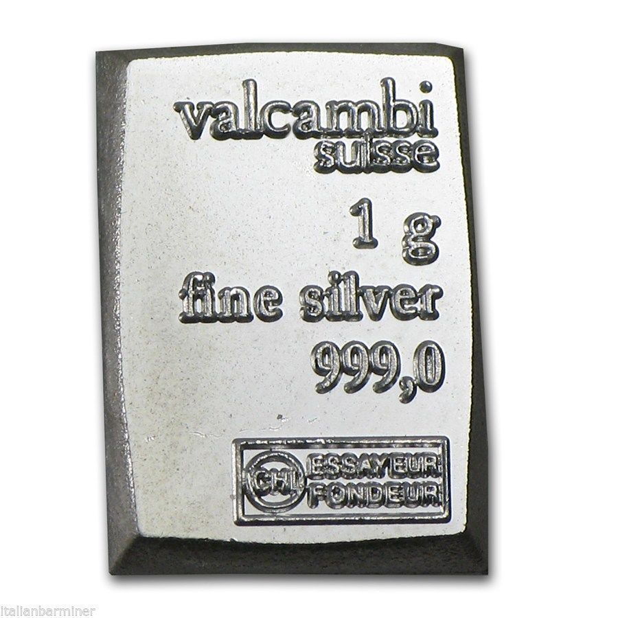 1 GRAM BAR, FINE SILVER .999, VALCAMBI SUISSE GREAT CHIRSTMASS GIFT in Coins & Paper Money, Bullion, Silver | eBay