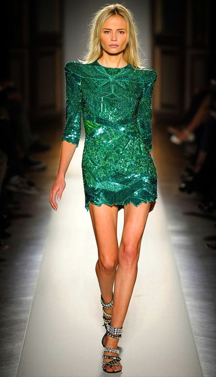 emerald mini dress
