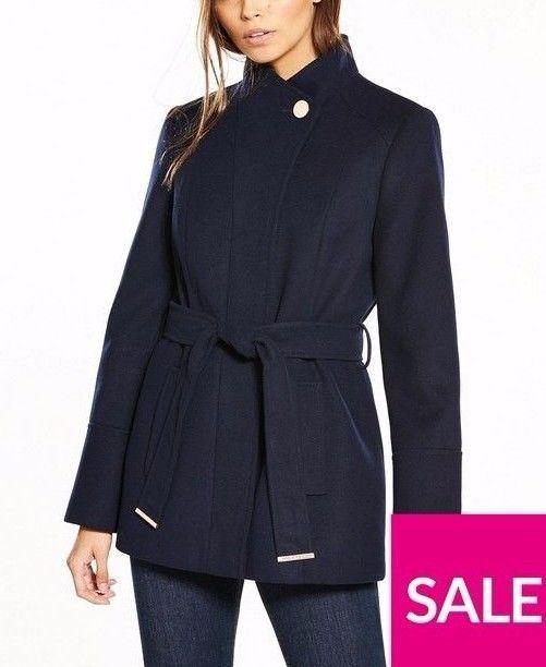 New Womens Ladies Short Sleeve Waterfall Collared Coat Jacket Top Size UK 8-14