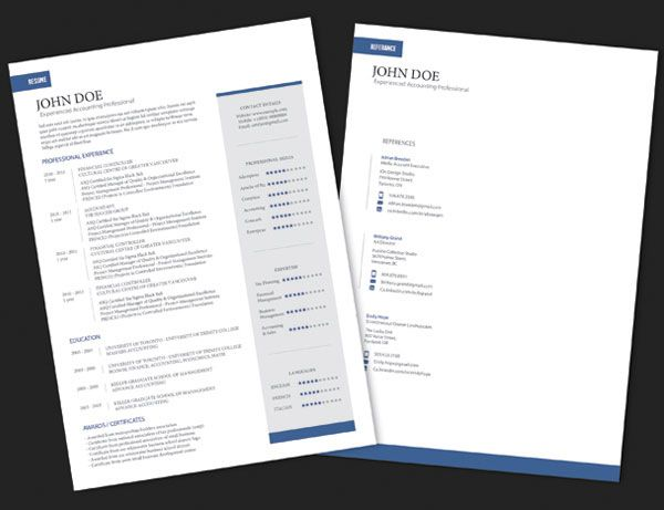 10 Best Free Resume (CV) Templates in Ai, Indesign, Word \ PSD - indesign resume templates