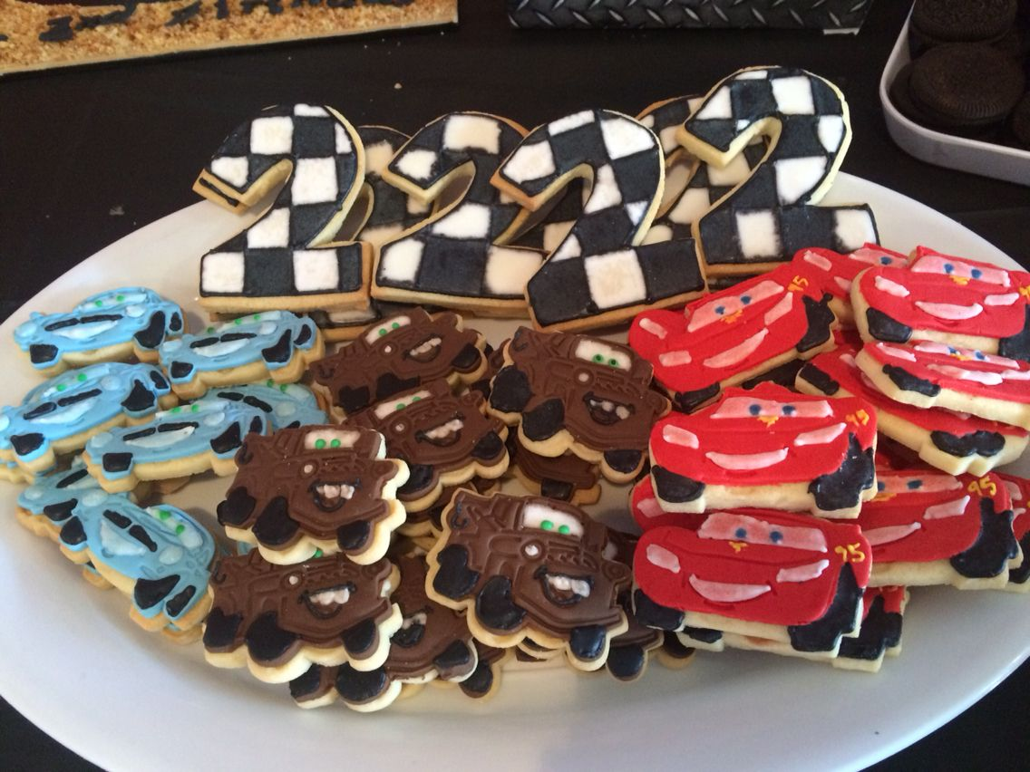 Tremendous Cookies Disney Cars Party Lightning Mcqueen Tow Mater Finn Funny Birthday Cards Online Benoljebrpdamsfinfo