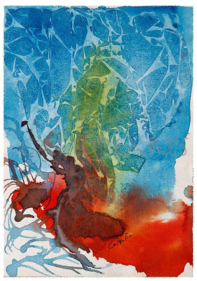 BAILARINA Acuarela abstracta. Si te ha gustado y quieres disfrutar de mis abstractos, aquí te dejo el enlace de mi web! http://pintura5-cp25.wordpresstemporal.com/tematica/abstracto/