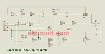 super bass tone control circuit pinterest circuit diagram and rh pinterest com tone control circuit diagram with pcb audio tone control circuit diagram