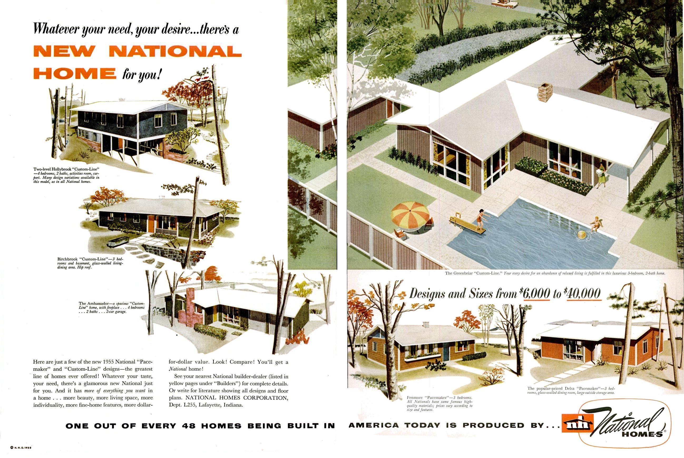 National Homes Mid Century Modern House Plans