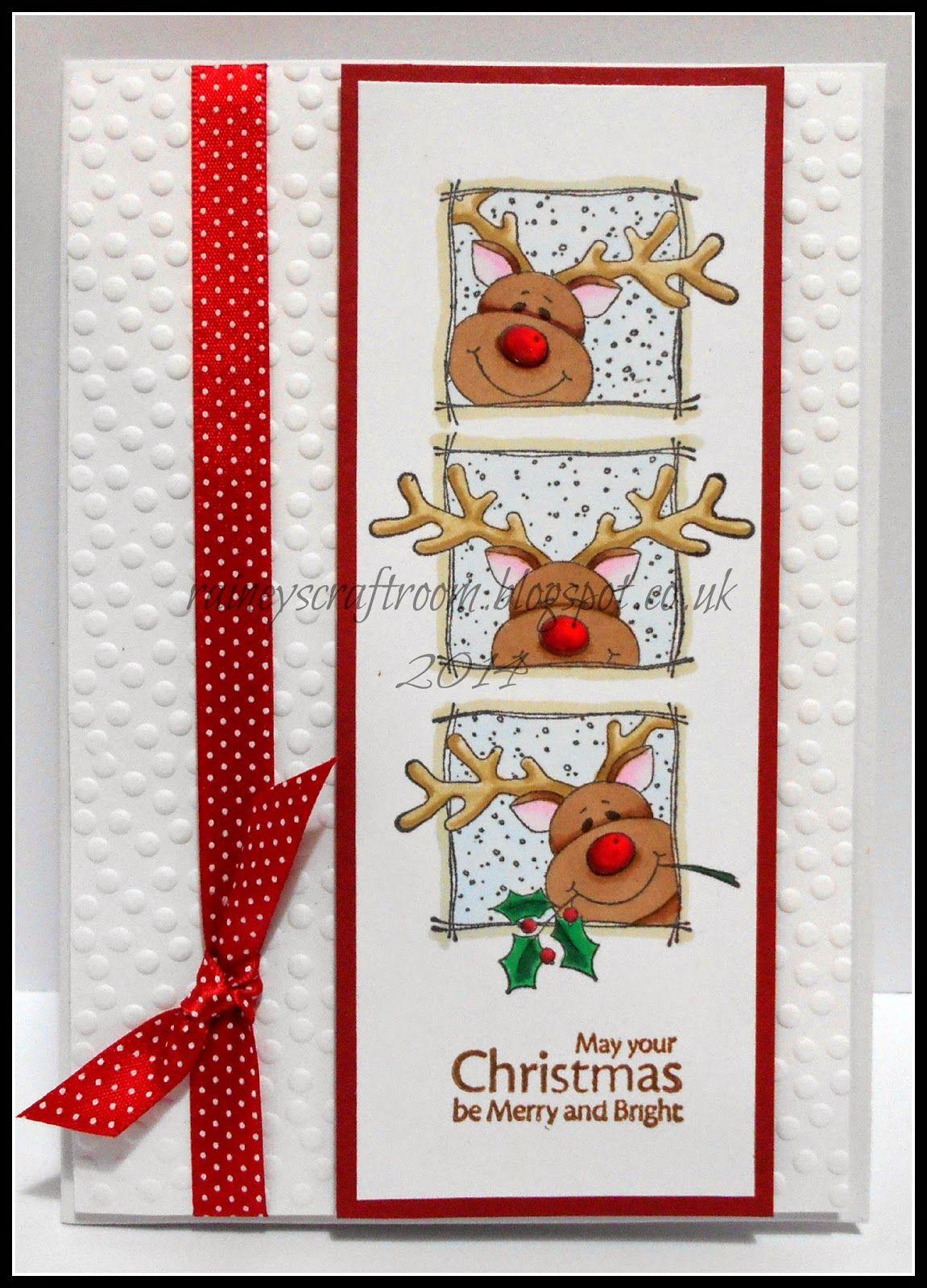 Christmas Card Club Challenge #22 Christmas Reindeer (Rainey's Craft Room)