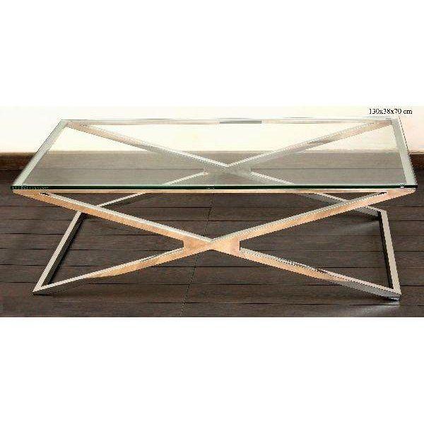 GlassStainless Steel Coffee Table Steel Coffee Table Stainless - Wayfair glass top coffee table