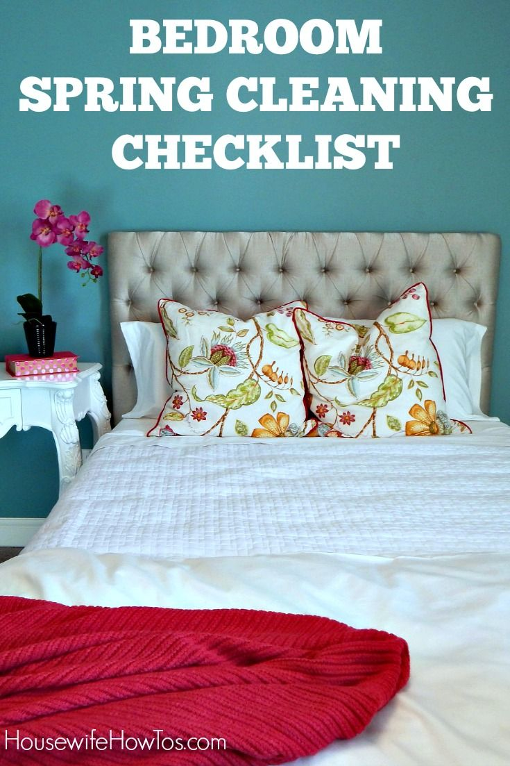 bedroom spring cleaning checklist so easy to follow and gets every