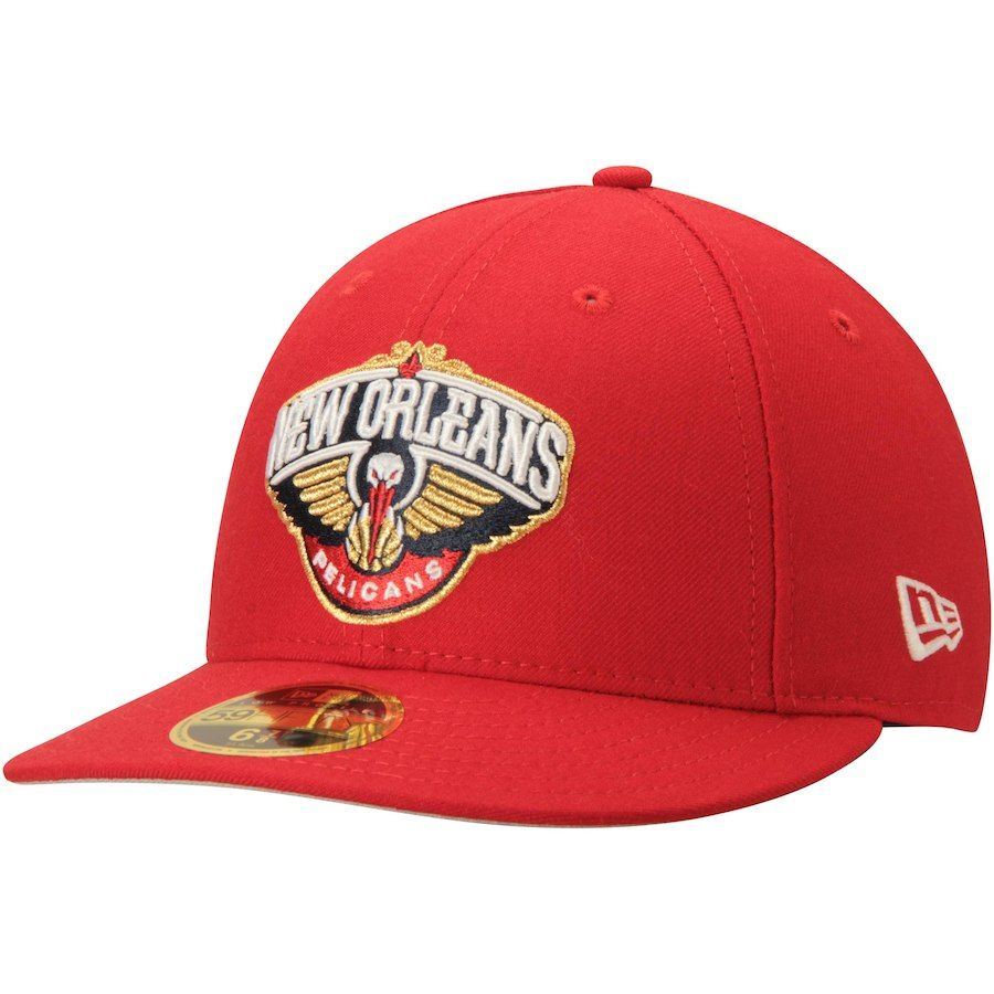 competitive price c4ff9 ef619 Men s New Orleans Pelicans New Era Scarlet Official Team Color Low Profile  59FIFTY Fitted Hat, Your Price   34.99