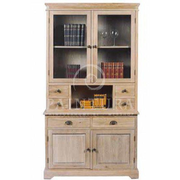 Grey wash eiken vitrinekast cottage meubelen online | Paintura ...