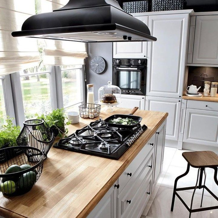 Fajnh Okap O Wyspa Home Kitchens Kitchen Interior Interior Design Kitchen