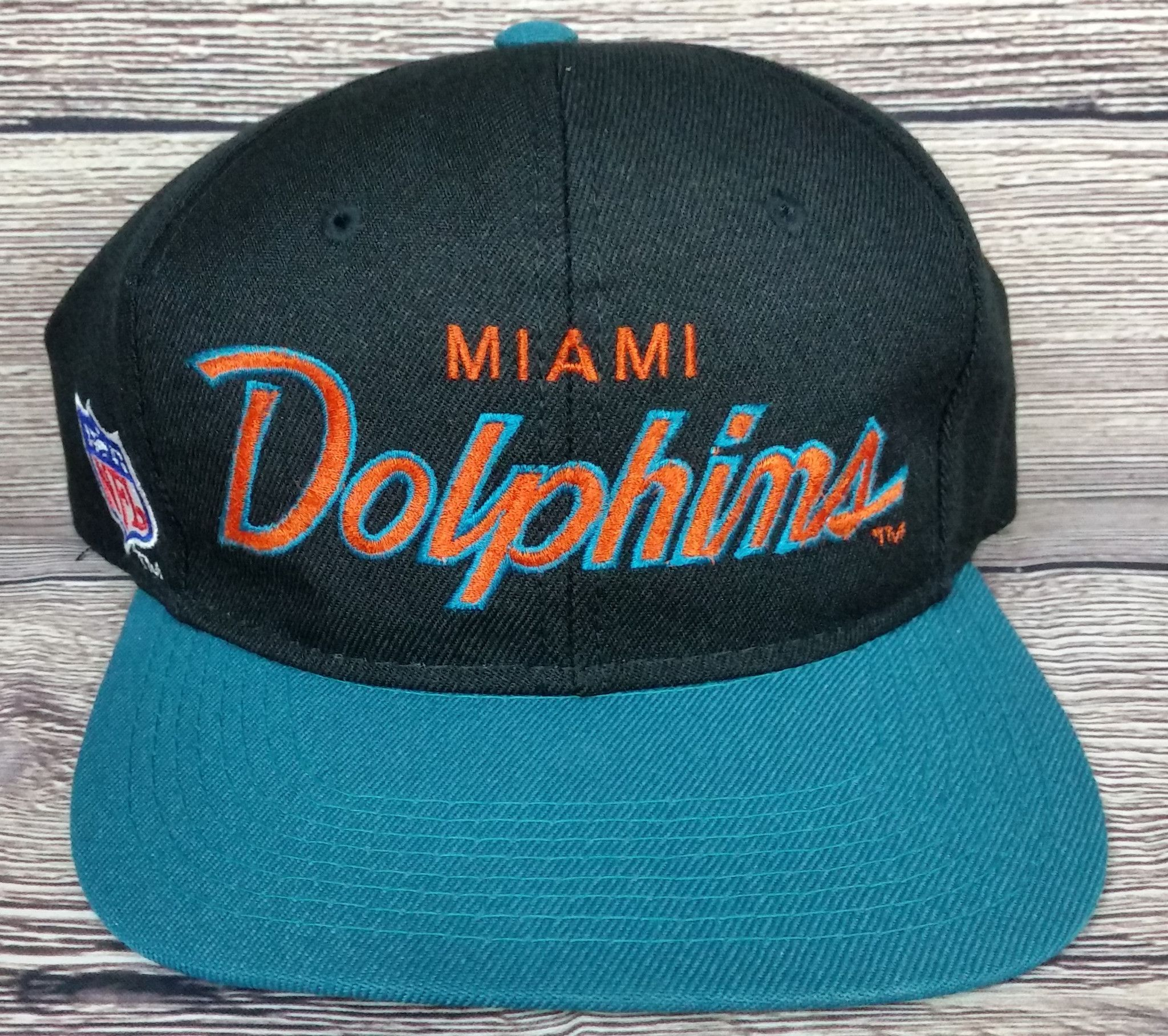 439fa226 Miami Dolphins Vintage Snapback Sports Specialties Script Hat NFL ...