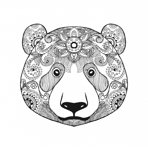 advanced bear coloring page - Advanced Coloring Pages