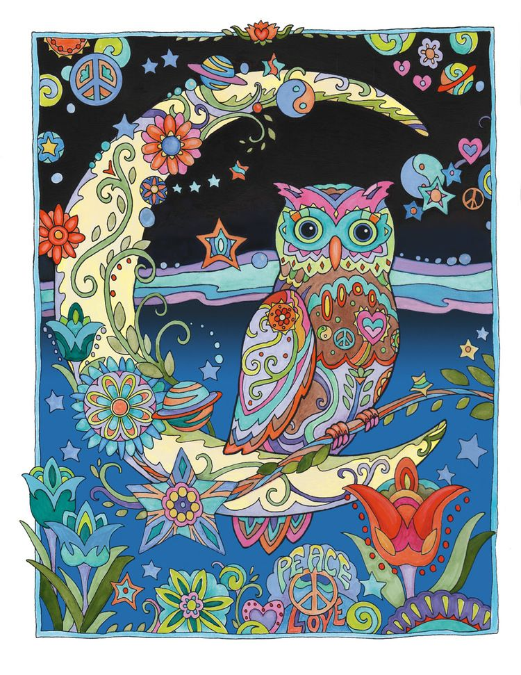 Pin By Concepcion Subirachs On Marjorie Sarnat Coloring Pages Owl Artwork Whimsical Owl Owl Pictures