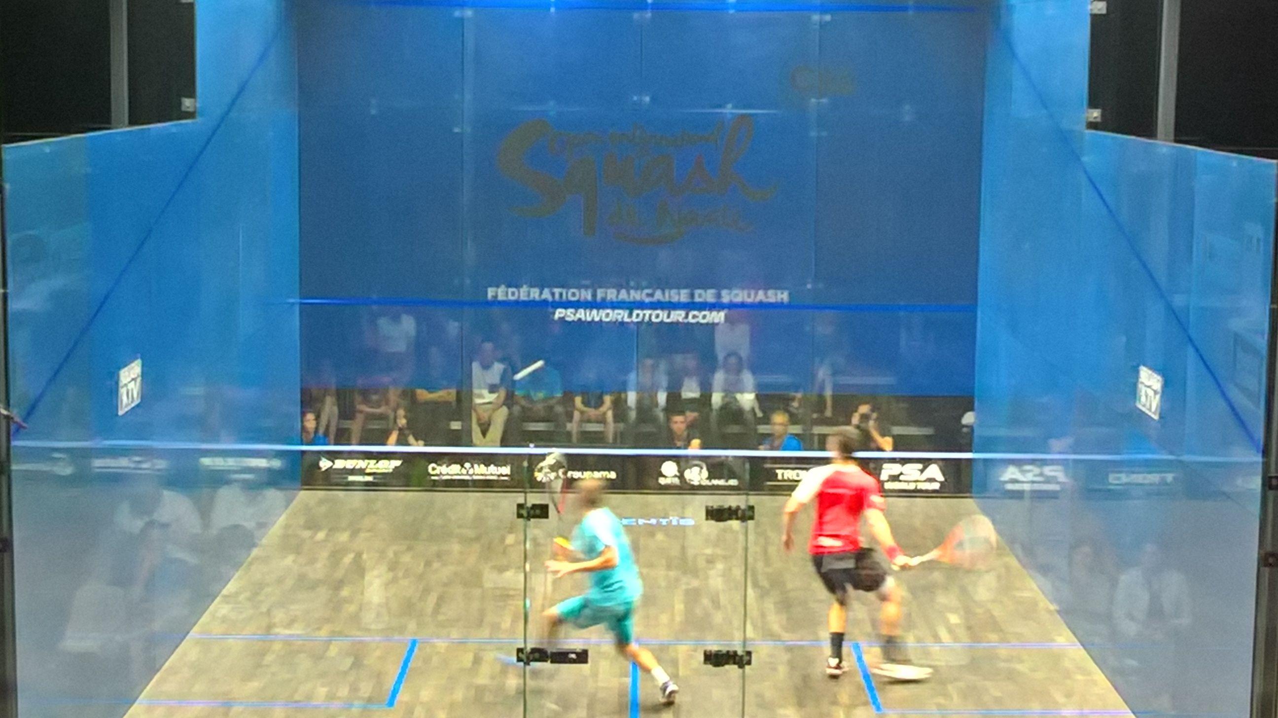 Open international de squash, à Nantes. la demie-finale!