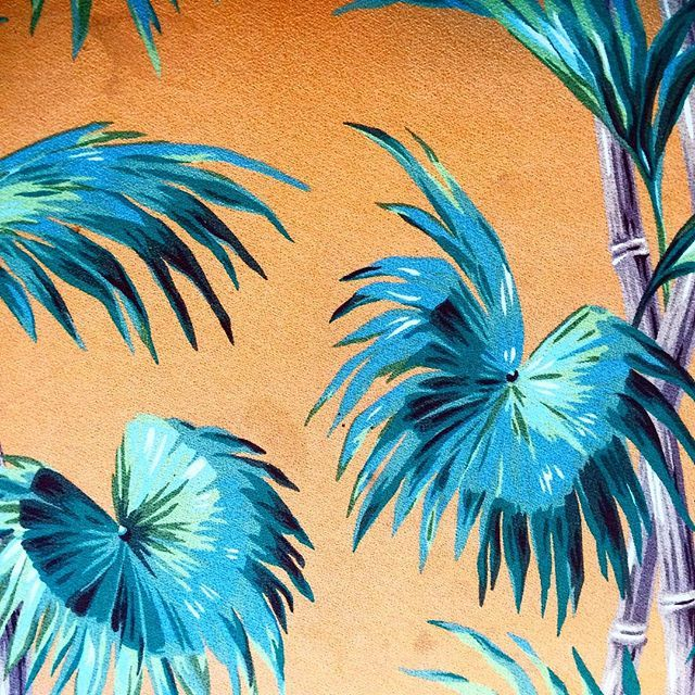 Friday design mood #tropical #palmtrees #pattern #wallpaper #turquoise