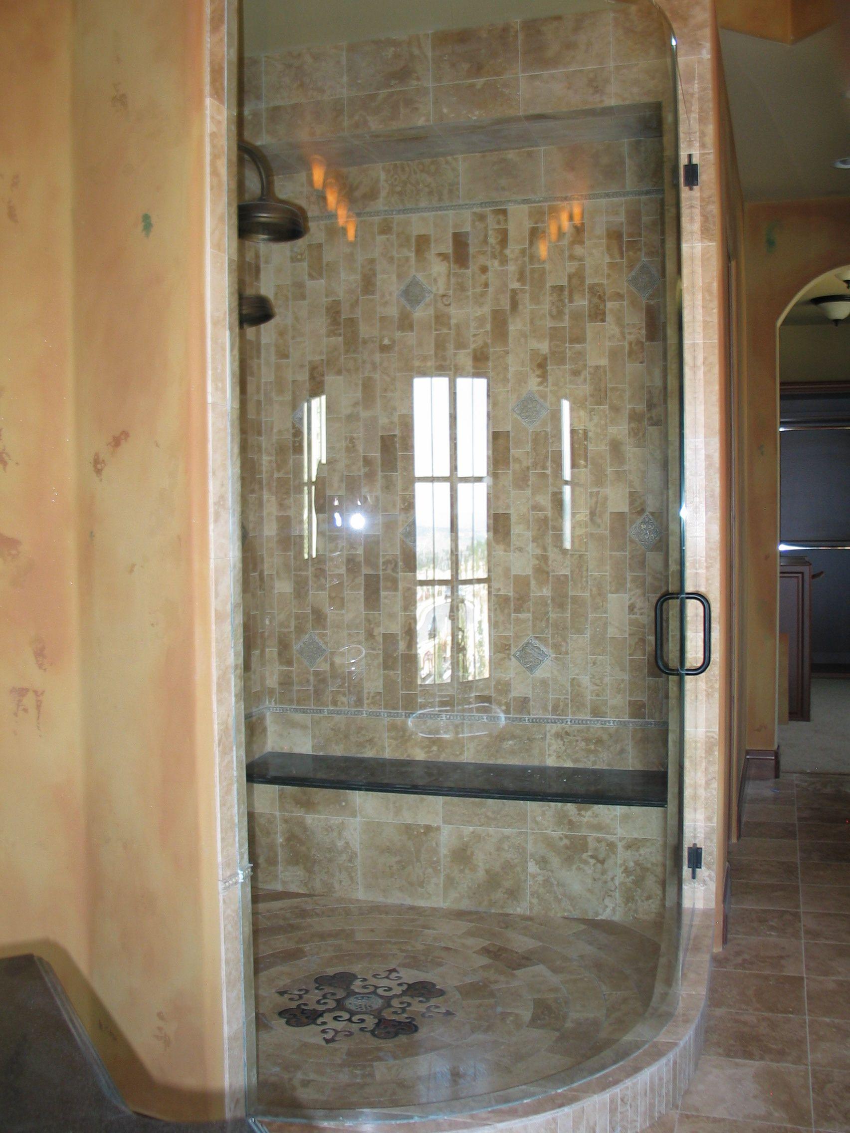 Glass Shower Door Love Not Too Small Fantastic Mosaic Floor