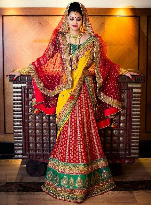 3cd94f117a The Indian bride has a myriad of ways to dress herself for her big day. She  can go for a Lehenga, saree, Anarkalis or a suit if it is Punjabi wedding.