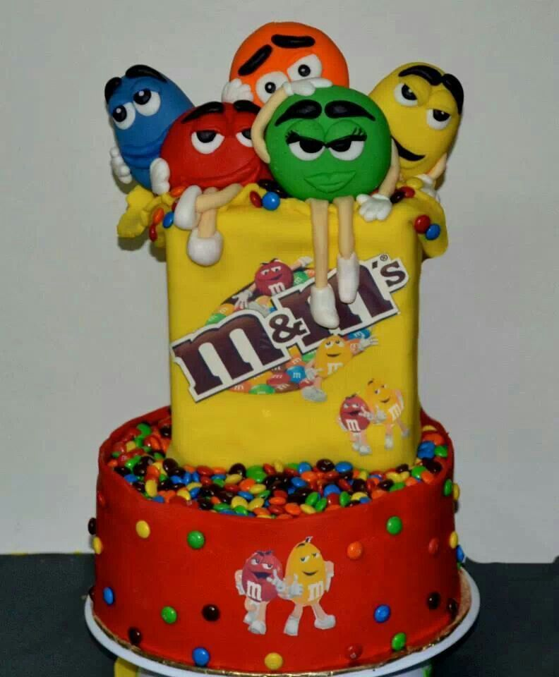 MM cake Kids Party Ideas Pinterest Cake Birthday cakes and