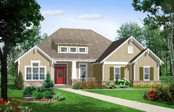 Country Cottage Exterior Designs | Southern Louisiana House Plans U2013 House  Plans Kabel House Plans | Home Design | Pinterest | English Tudor, Ranch  And Porch