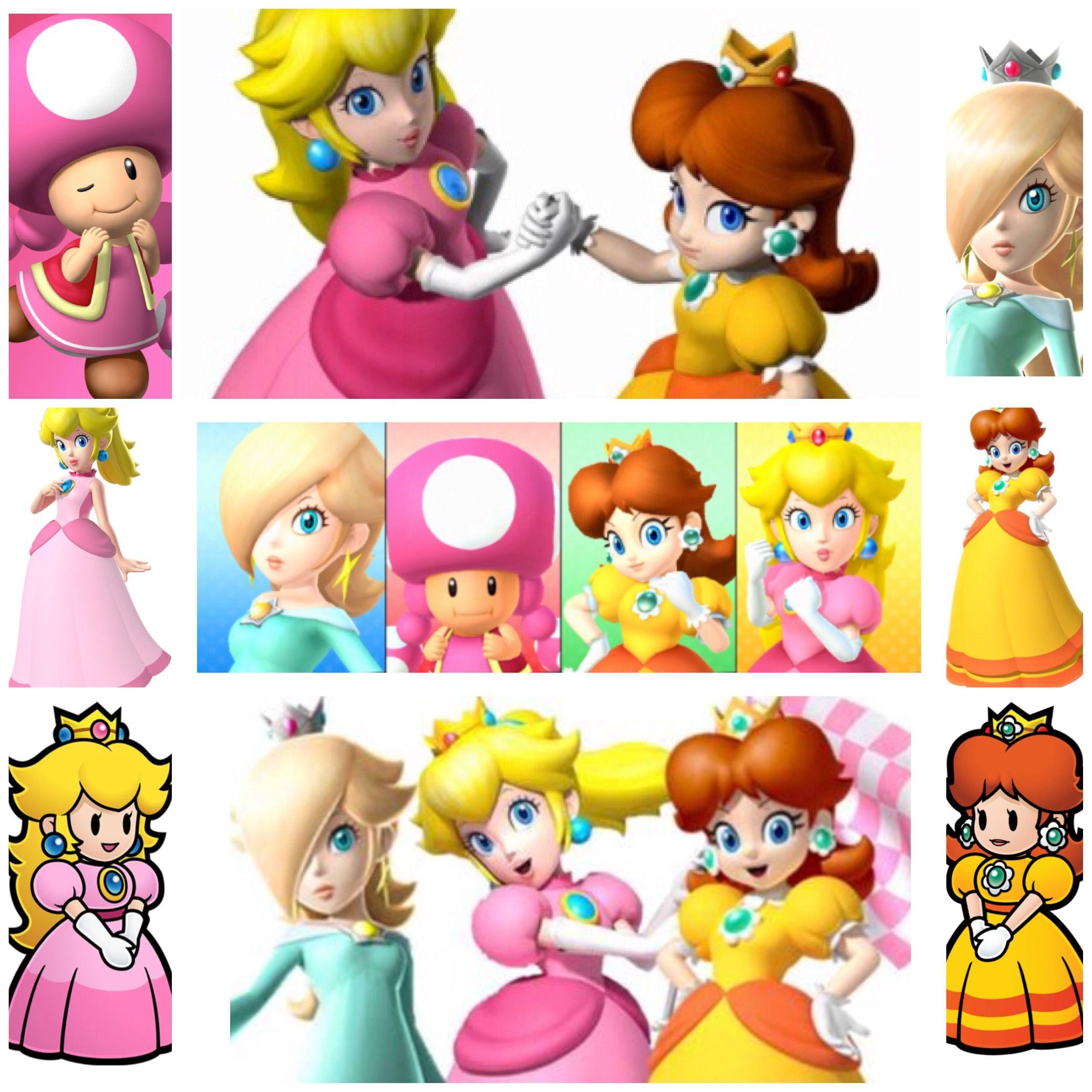 Princess Peach Daisy Rosalina And Toadette Peach Princess Peach Daisy