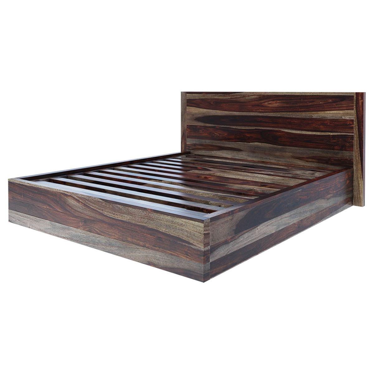 Jamaica Rustic Solid Wood Handcrafted Platform Bed In 2021 Wooden King Size Bed Solid Wood Platform Bed Platform Bed