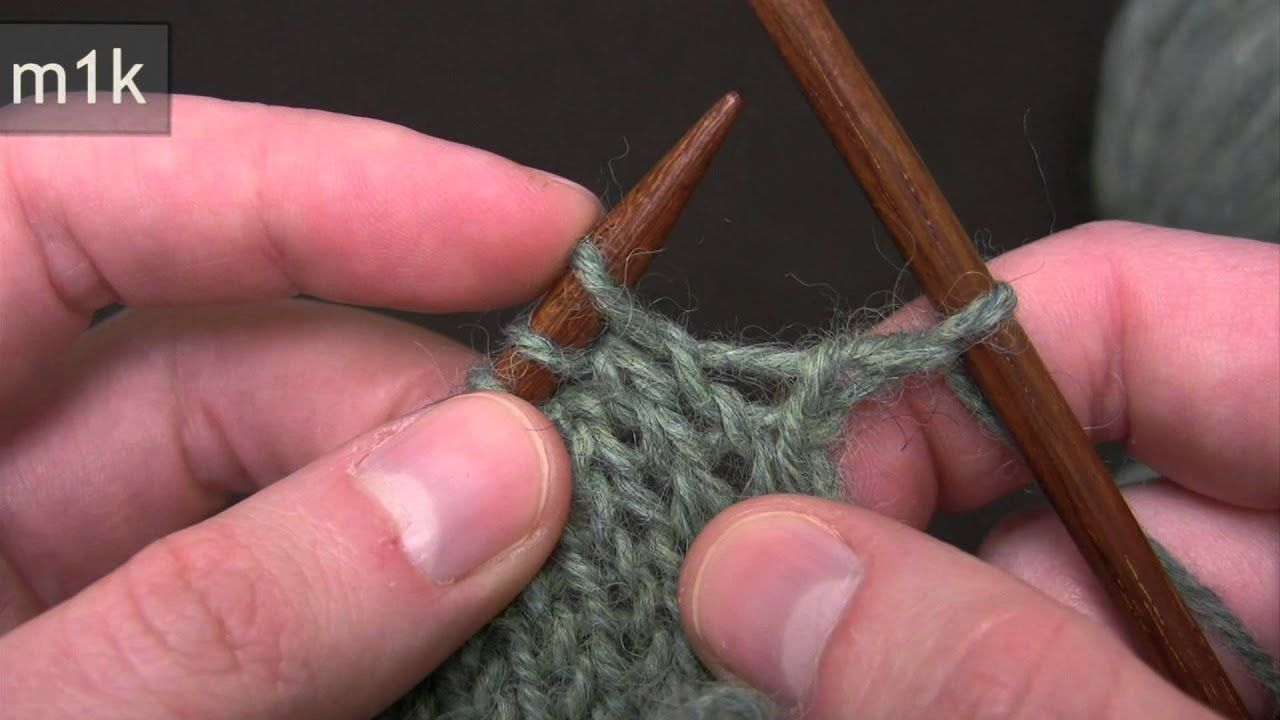 """""""Make One"""" Increase YouTube Knitting increase"""