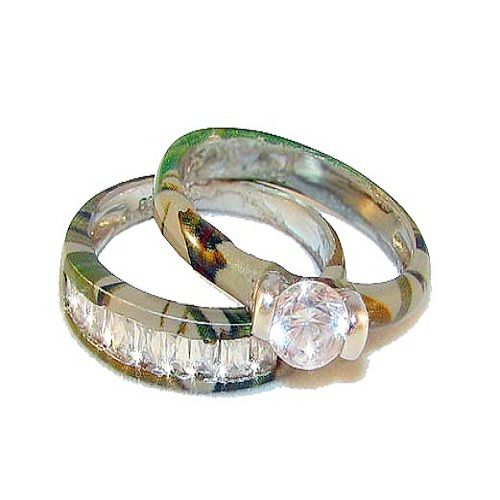 Camo Wedding Rings for Women Camo wedding rings with real diamonds