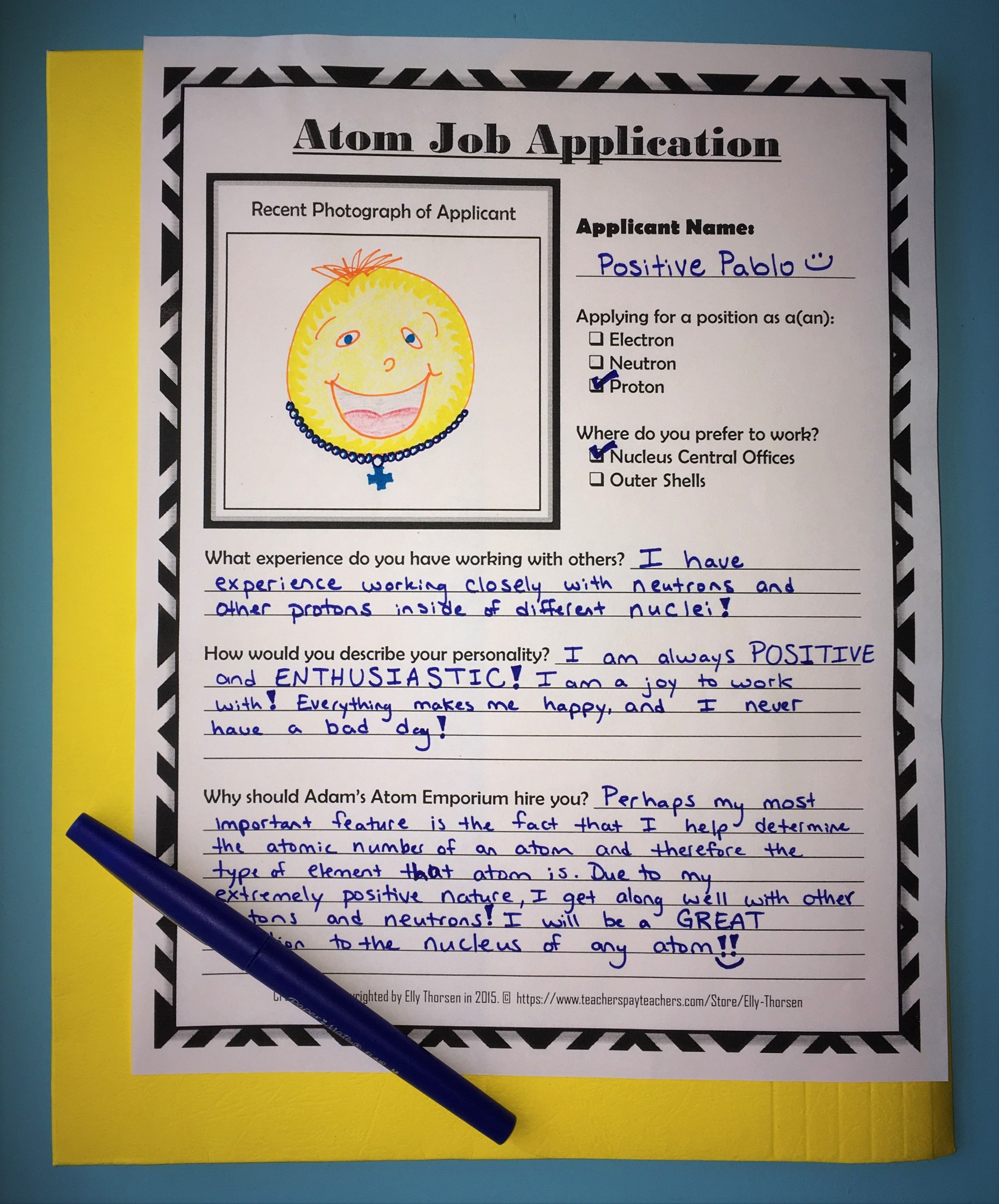Atoms And Subatomic Particles Job Application Assignment