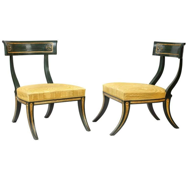 Pair Of Regency Klismos Chairs | 1stdibs.com
