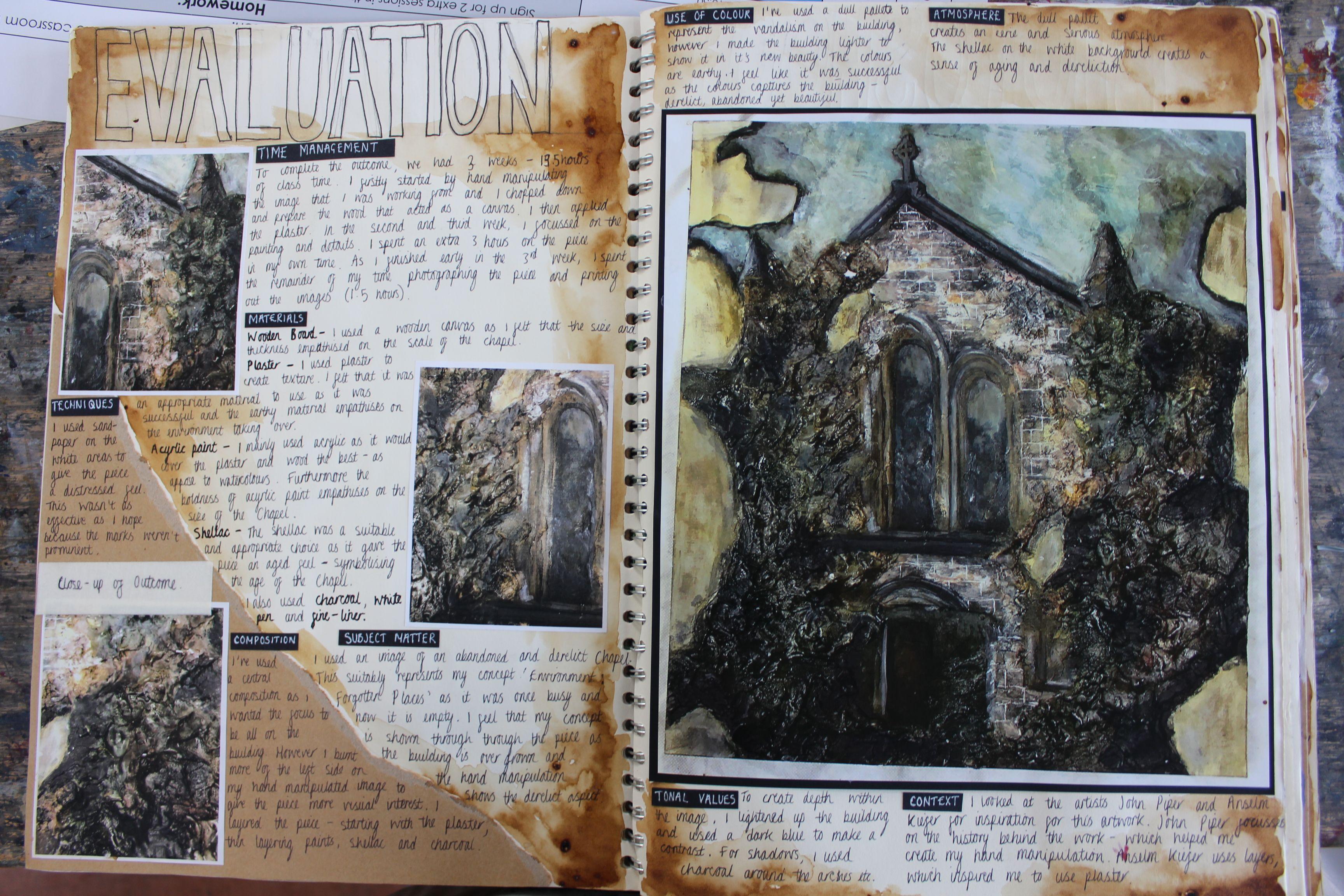 Al2 Fine Art A3 Cream Sketchbook Evaluation Of Outcome Component 1 Environment Thomas Rotherham College 2017 Sketchbook Layout Art Sketchbook Sketch Book