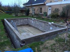 Handleiding om zelf een zwembad te bouwen techniek for Zelf zwembad bouwen betonblokken