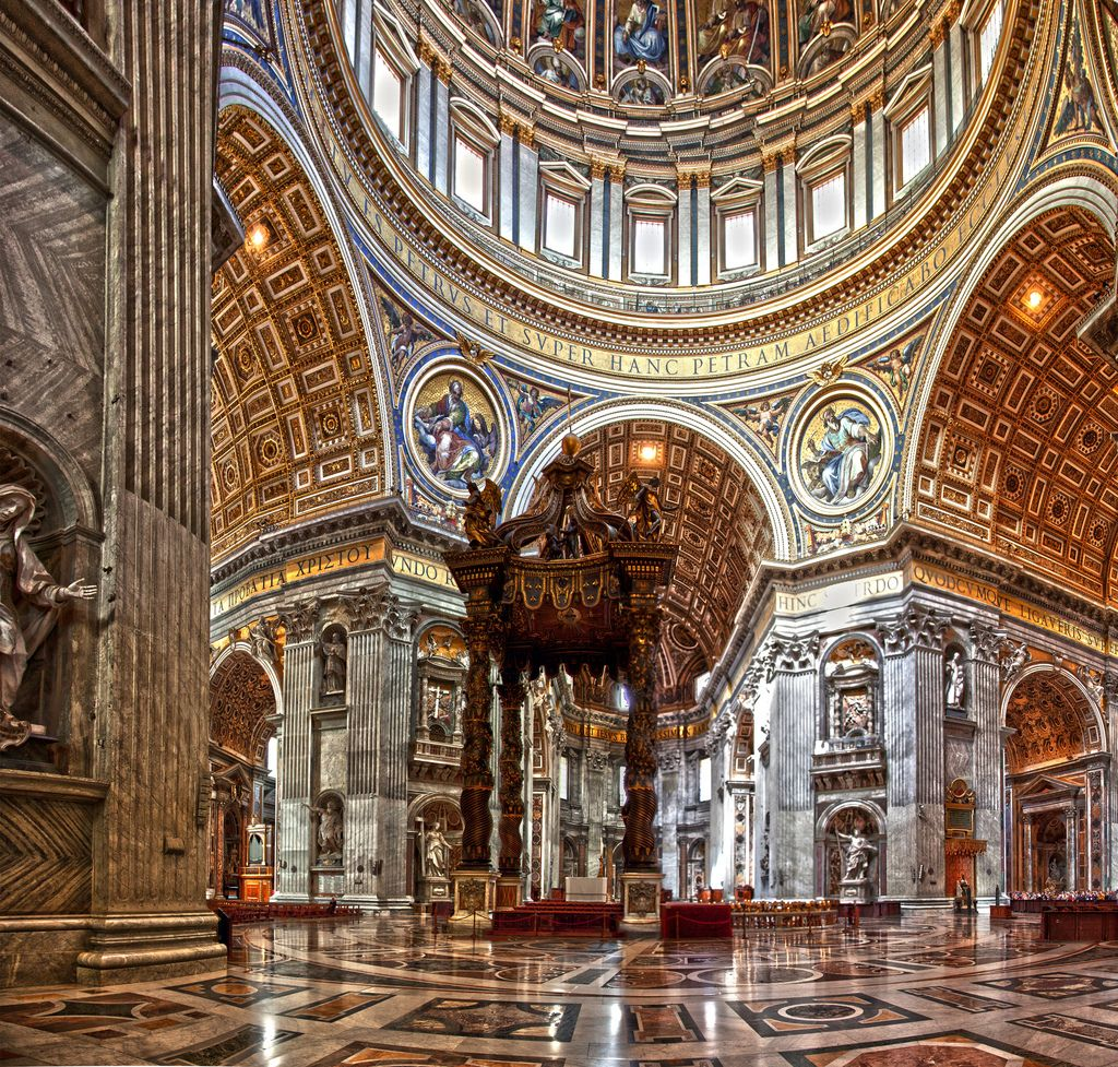 St. Peter's Basilica Interior St peters basilica, St