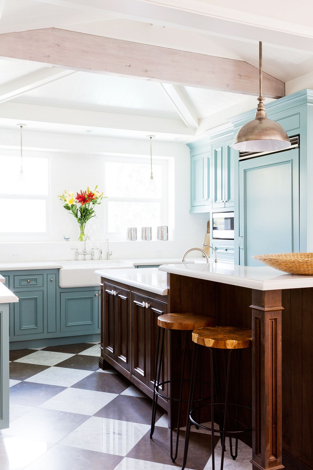 Pale Blue Kitchen Home Tour A Youthful Whimsical L A Home Kitchens Pinterest