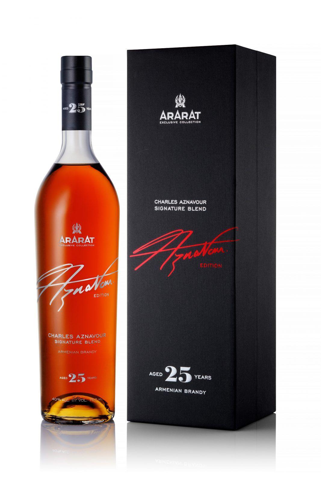 Ararat Charles Aznavour Signature Blend World Brand Design Society Yerevan Brandy Factory Released 2 Whiskey Packaging Packaging Design Armenian Brandy