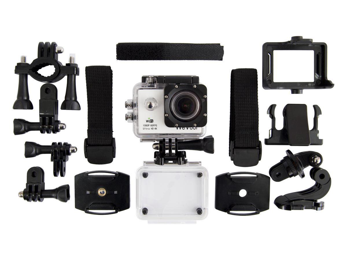 Grabe donde y cuando quiera vídeos en calidad de hasta 4K con esta cámara pequeña y ligera. Cree vídeos impresionantes gracias a su gran angular de 170º. Con la carcasa que acompaña a la cámara, esta se convierte en un todoterreno de la aventura extrema.