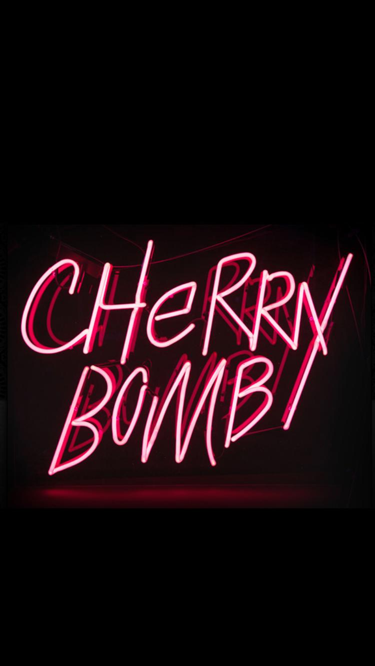 Cherry bomb iPhone wallpaper Aesthetic grunge tumblr