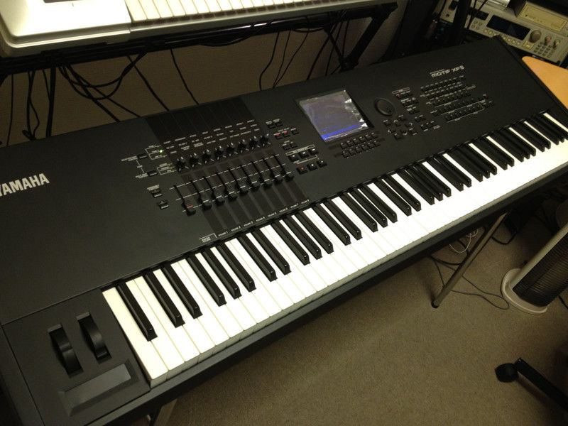 yamaha motif xf8 keyboard synthesizer if i had a secret underground playroom electric. Black Bedroom Furniture Sets. Home Design Ideas