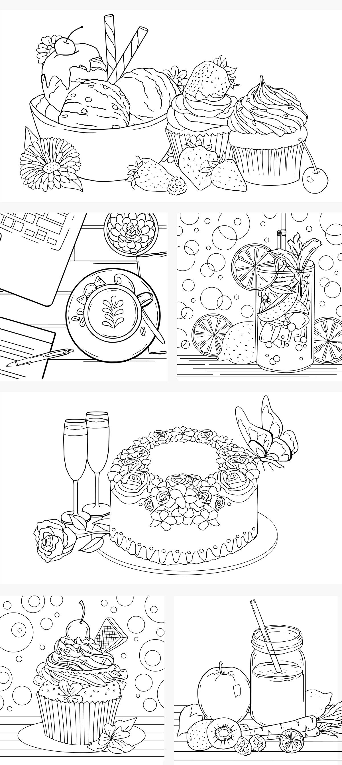 Coloring Pages Food On Behance Food Coloring Pages Mothers Day Coloring Pages Coloring Pages For Boys