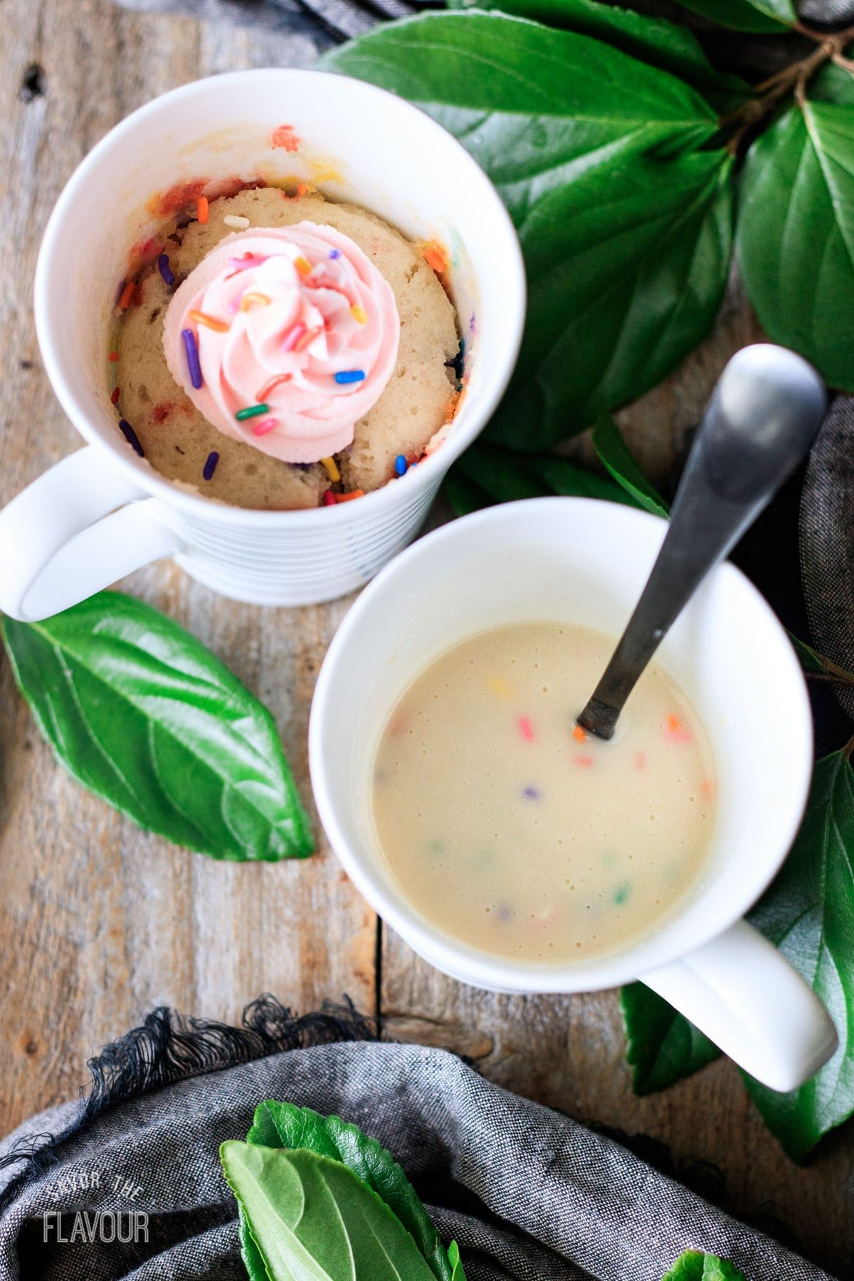 This moist and fluffy funfetti mug cake is easy to make in ...