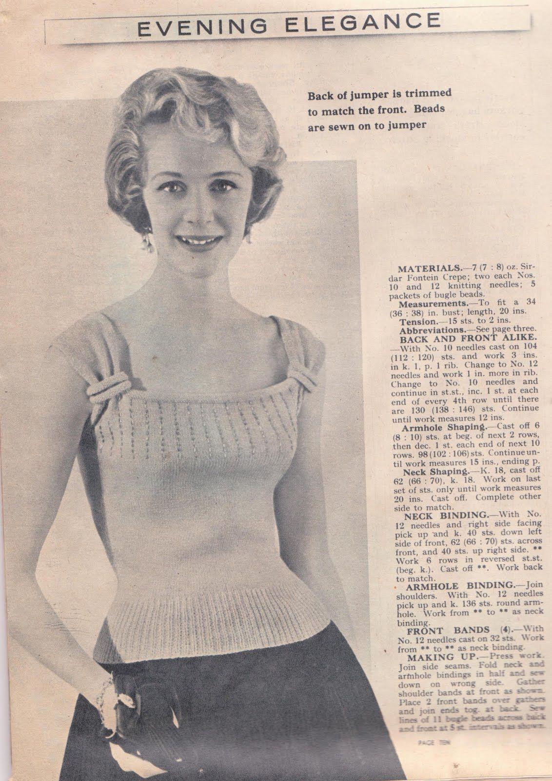 Wayward Creating: Free Vintage Knitting Pattern! | Vintage ...