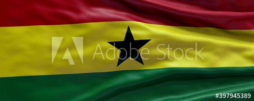 Waving Flag Of Ghana Flag Of Ghana 3d Flag Background Buy This Stock Illustration And Explore Similar Illus Flag Background Ghana Flag Stock Illustration