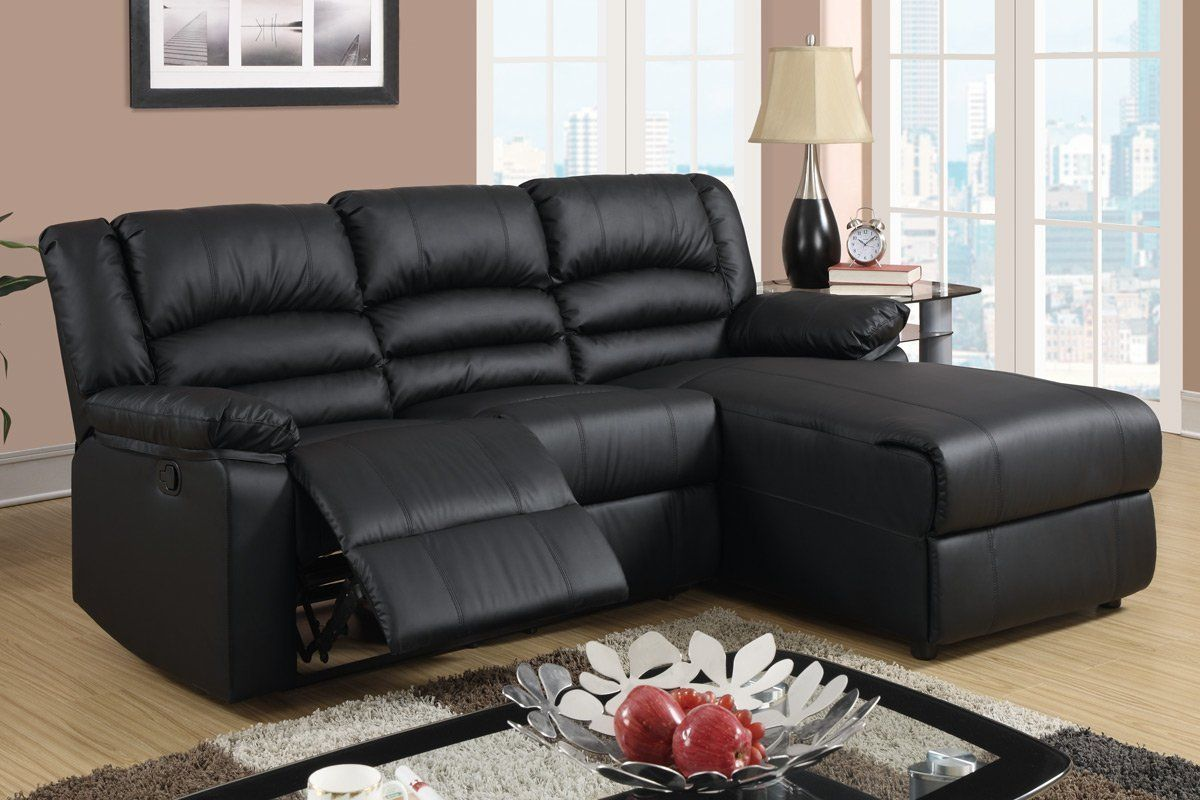 Best Amazon Com Black Bonded Leather Sectional Sofa With 400 x 300