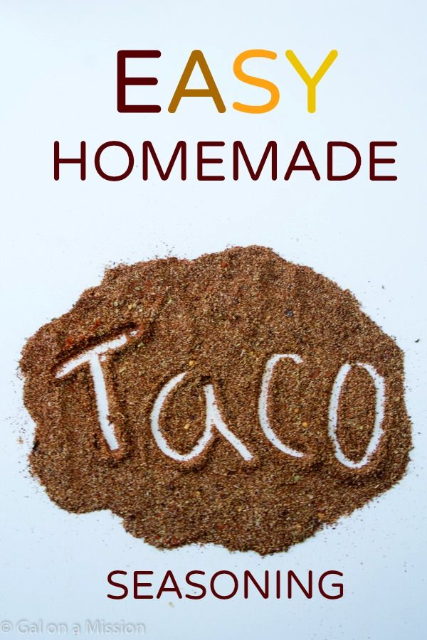 Homemade Taco Seasoning - Gal on a Mission