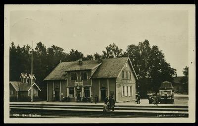 SKI STATION i Akershus fylke Utg Normann 1922 stpl. Ski 1926
