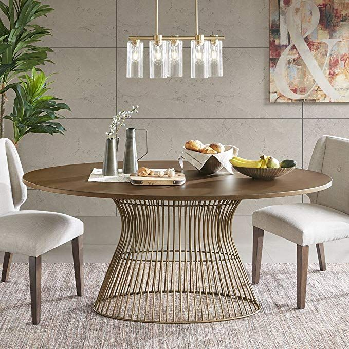 INK+IVY Mercer Oval Dining Table Bronze See