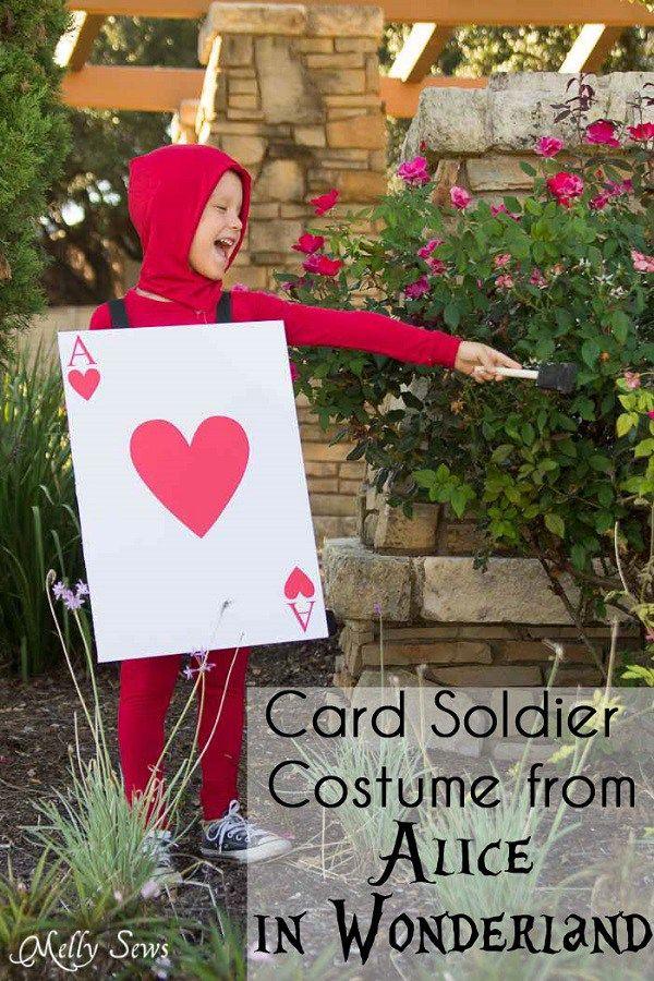 Tutorial Alice In Wonderland Card Soldier Costume