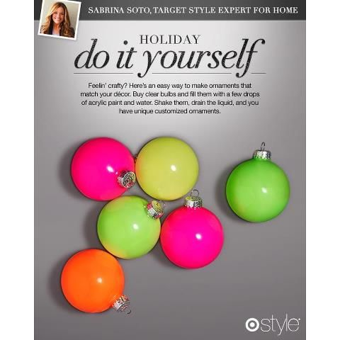 I LOVE this idea for DIY christmas tree ornaments! #fluo #christmas #ornaments