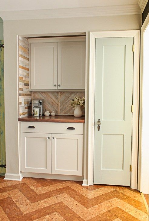 Pantry Reveal with Coffee Bar and Hidden Wine Storage - Pretty Handy Girl